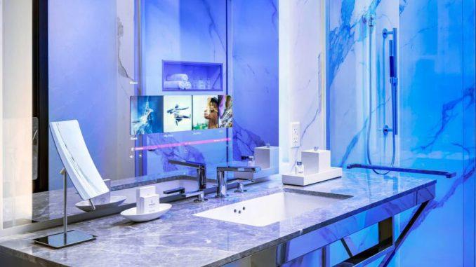 Salle de bain connectée Hôtel